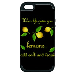 When Life Gives You Lemons Apple Iphone 5 Hardshell Case (pc+silicone) by Valentinaart