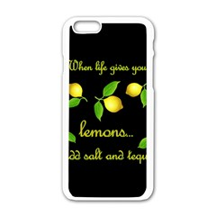 When Life Gives You Lemons Apple Iphone 6/6s White Enamel Case by Valentinaart