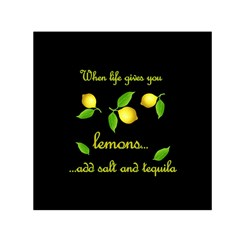 When Life Gives You Lemons Small Satin Scarf (square)