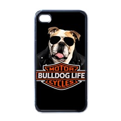 Bulldog Biker Apple Iphone 4 Case (black)