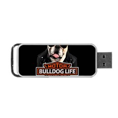 Bulldog Biker Portable Usb Flash (one Side) by Valentinaart