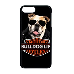 Bulldog Biker Apple Iphone 7 Plus Seamless Case (black) by Valentinaart