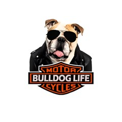 Bulldog Biker Magic Photo Cubes