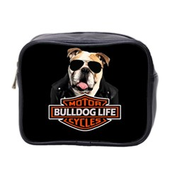 Bulldog Biker Mini Toiletries Bag 2 Side by Valentinaart
