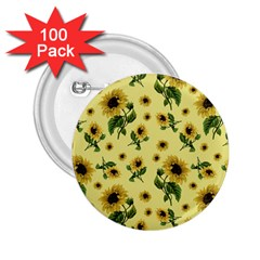 Sunflowers Pattern 2 25  Buttons (100 Pack)  by Valentinaart