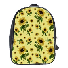 Sunflowers Pattern School Bag (large)