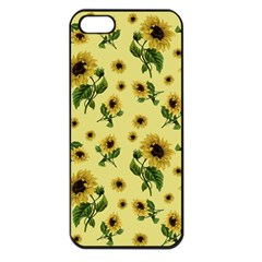 Sunflowers Pattern Apple Iphone 5 Seamless Case (black) by Valentinaart
