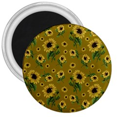 Sunflowers Pattern 3  Magnets