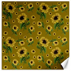 Sunflowers Pattern Canvas 12  X 12   by Valentinaart