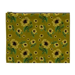 Sunflowers Pattern Cosmetic Bag (xl)