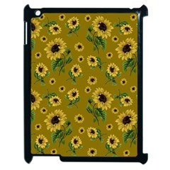 Sunflowers Pattern Apple Ipad 2 Case (black)