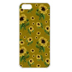 Sunflowers Pattern Apple Iphone 5 Seamless Case (white)