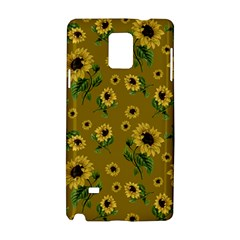 Sunflowers Pattern Samsung Galaxy Note 4 Hardshell Case by Valentinaart