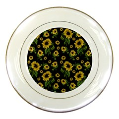 Sunflowers Pattern Porcelain Plates by Valentinaart
