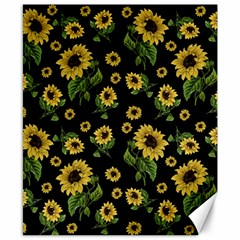 Sunflowers Pattern Canvas 8  X 10  by Valentinaart