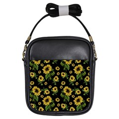 Sunflowers Pattern Girls Sling Bags by Valentinaart