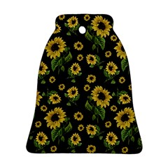 Sunflowers Pattern Bell Ornament (two Sides) by Valentinaart