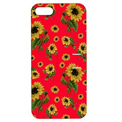 Sunflowers Pattern Apple Iphone 5 Hardshell Case With Stand by Valentinaart