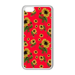 Sunflowers Pattern Apple Iphone 5c Seamless Case (white) by Valentinaart