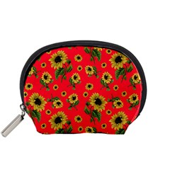 Sunflowers Pattern Accessory Pouches (small)  by Valentinaart