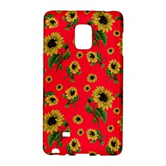 Sunflowers Pattern Galaxy Note Edge by Valentinaart