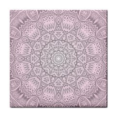 Pink Mandala art  Tile Coasters