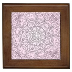 Pink Mandala art  Framed Tiles