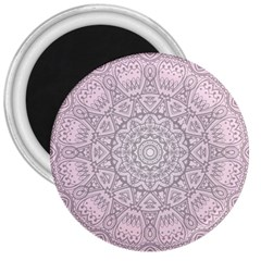 Pink Mandala art  3  Magnets