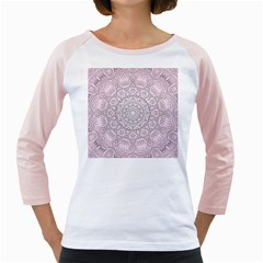 Pink Mandala art  Girly Raglans