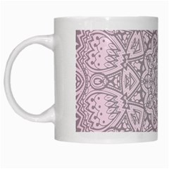Pink Mandala art  White Mugs