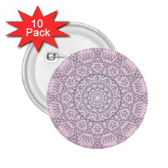 Pink Mandala art  2.25  Buttons (10 pack)