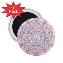 Pink Mandala art  2.25  Magnets (10 pack)