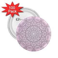 Pink Mandala art  2.25  Buttons (100 pack)