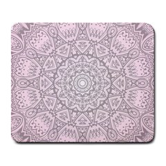 Pink Mandala art  Large Mousepads