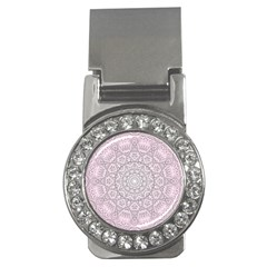 Pink Mandala art  Money Clips (CZ)