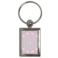 Pink Mandala art  Key Chains (Rectangle)
