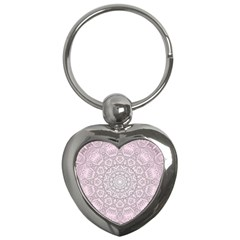 Pink Mandala art  Key Chains (Heart)