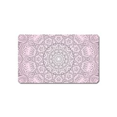 Pink Mandala art  Magnet (Name Card)