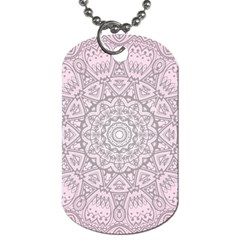Pink Mandala art  Dog Tag (One Side)