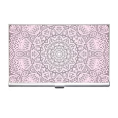 Pink Mandala art  Business Card Holders