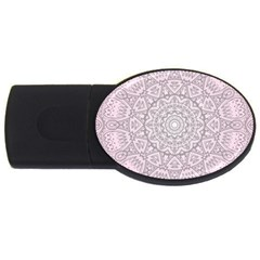 Pink Mandala art  USB Flash Drive Oval (2 GB)