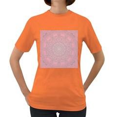 Pink Mandala art  Women s Dark T-Shirt