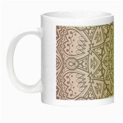 Pink Mandala art  Night Luminous Mugs