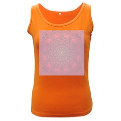 Pink Mandala art  Women s Dark Tank Top