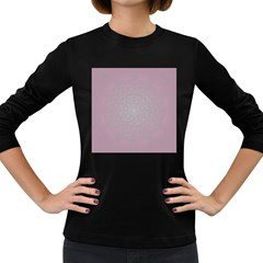 Pink Mandala art  Women s Long Sleeve Dark T-Shirts