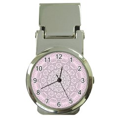 Pink Mandala art  Money Clip Watches