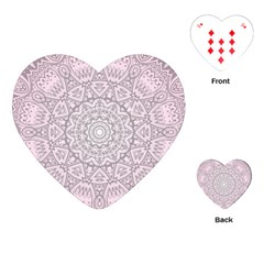 Pink Mandala art  Playing Cards (Heart)
