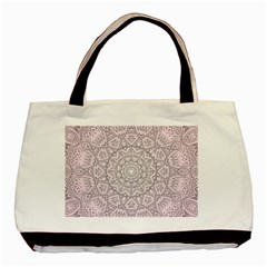 Pink Mandala art  Basic Tote Bag
