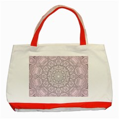 Pink Mandala art  Classic Tote Bag (Red)