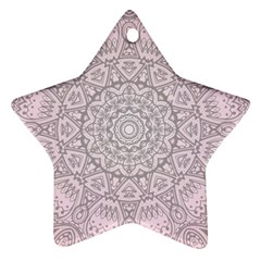 Pink Mandala Art  Star Ornament (two Sides) by paulaoliveiradesign